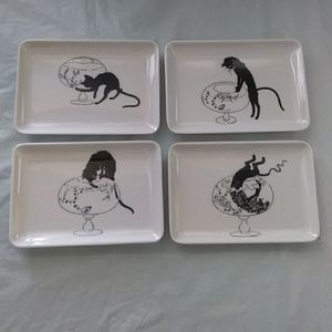 Snack Trays Cat & Fish Bowl